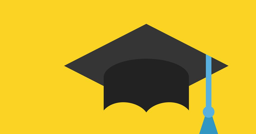 Graduation hat books icon