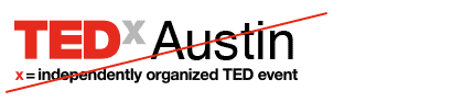 Example of incorrect logo: TEDx colors