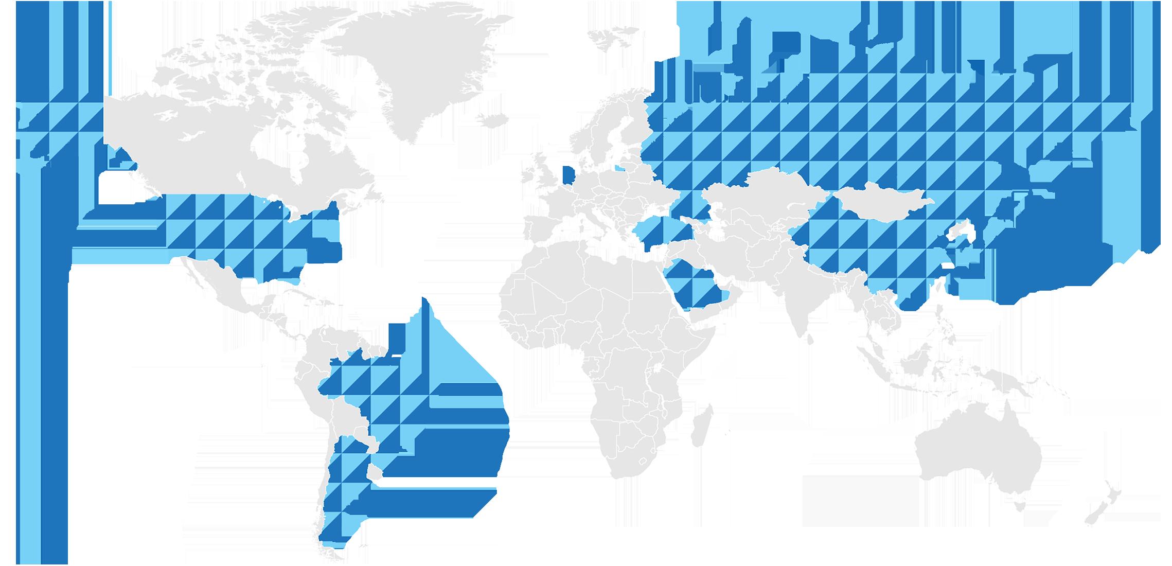 World map of volunteer-subtitled TED talks
