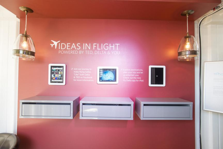 "Delta: ""Ideas in Flight"" booth at TED2012"