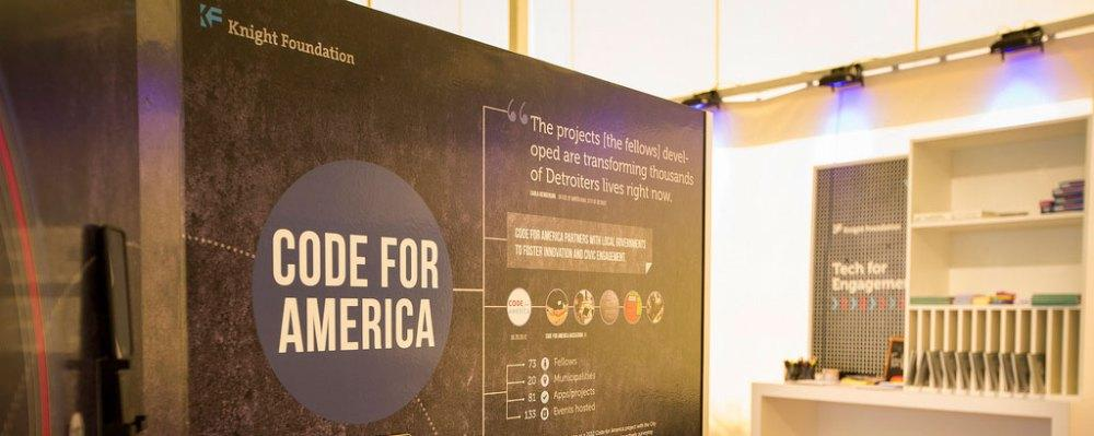 "Knight Foundation: ""Code for America"" workshop at TED2013"