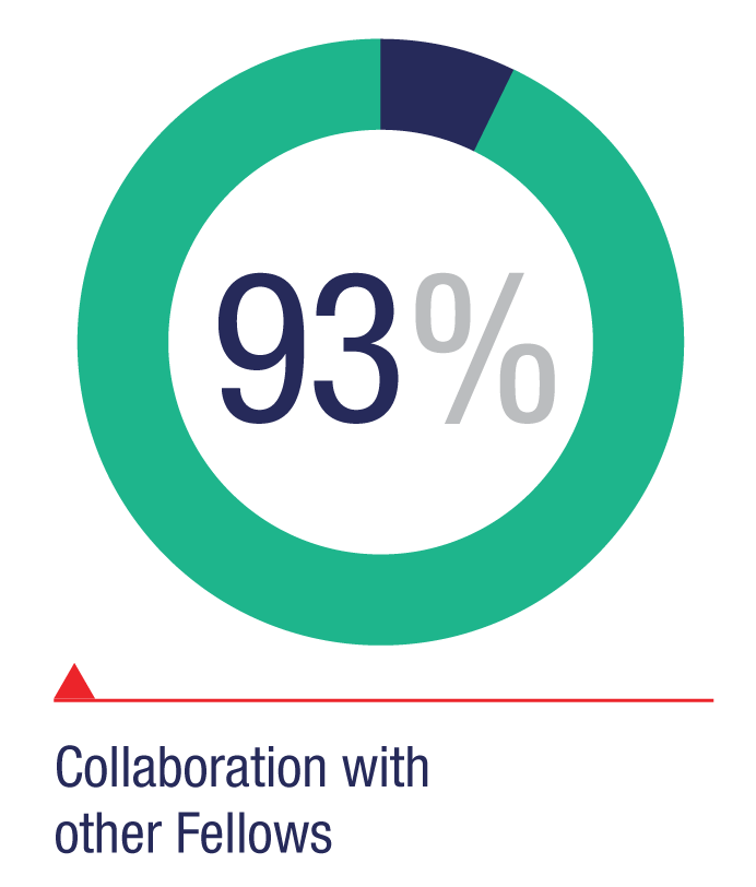 Collaboration with other Fellows: 93%