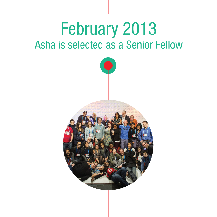 February 2013: Asha is selected as a Senior Fellow