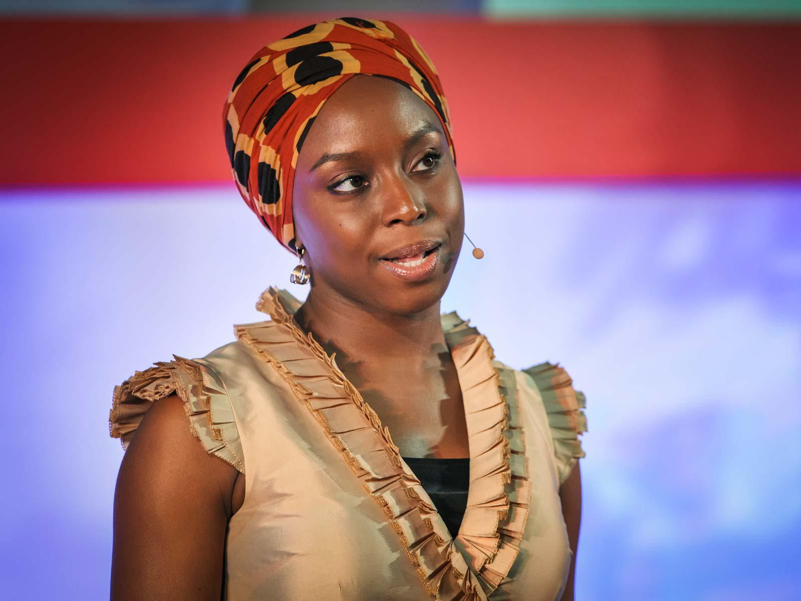 Chimamanda Ngozi Adichie speaking