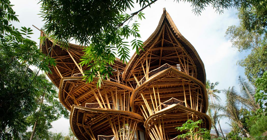 Magical houses, made of bamboo