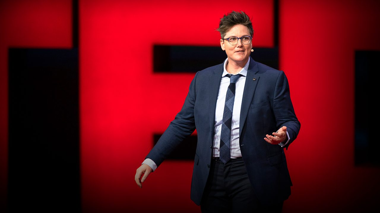 Hannah Gadsby on stage