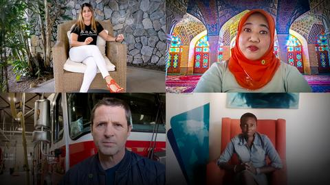 Climate change is our reality. Here's how we're taking action | Al Gore, Gloria Kasang Bulus, Nana Firman, Ximena Loría and Tim Guinee