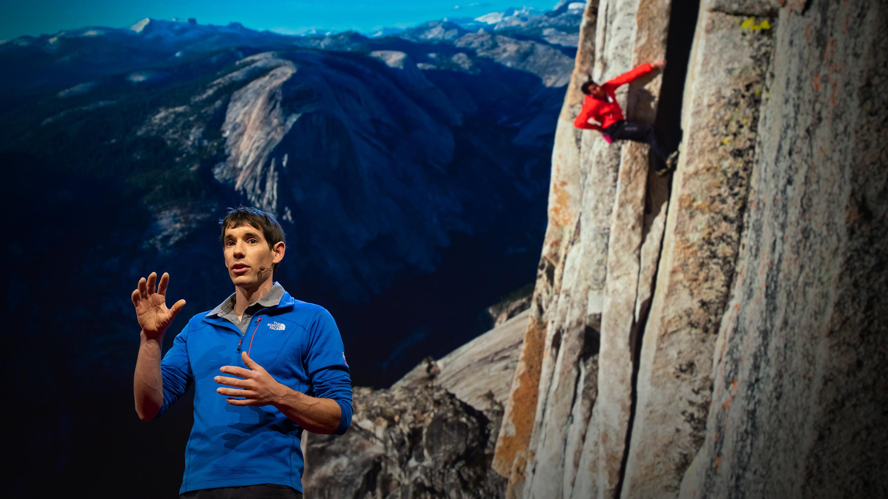 How I climbed a 3,000-foot vertical cliff -- without ropes | Alex Honnold
