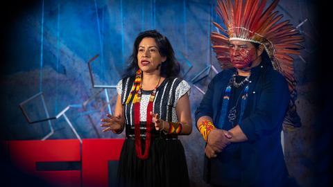 The Amazon belongs to humanity -- let's protect it together   Tashka and Laura Yawanawá