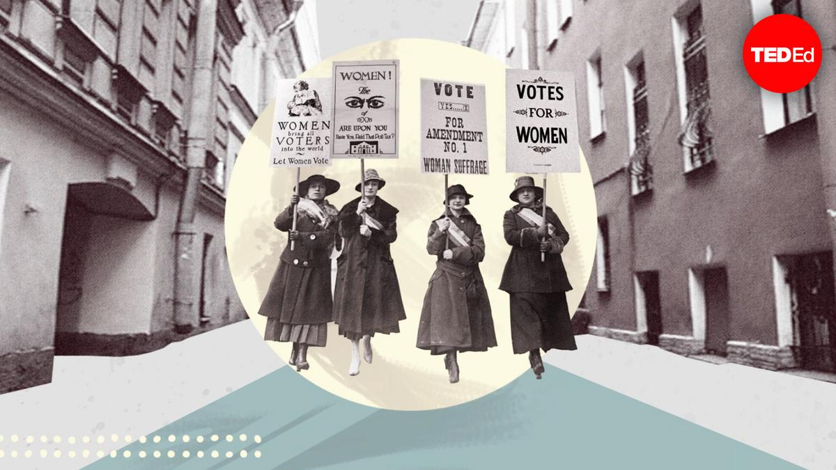 The historic women's suffrage march on Washington
