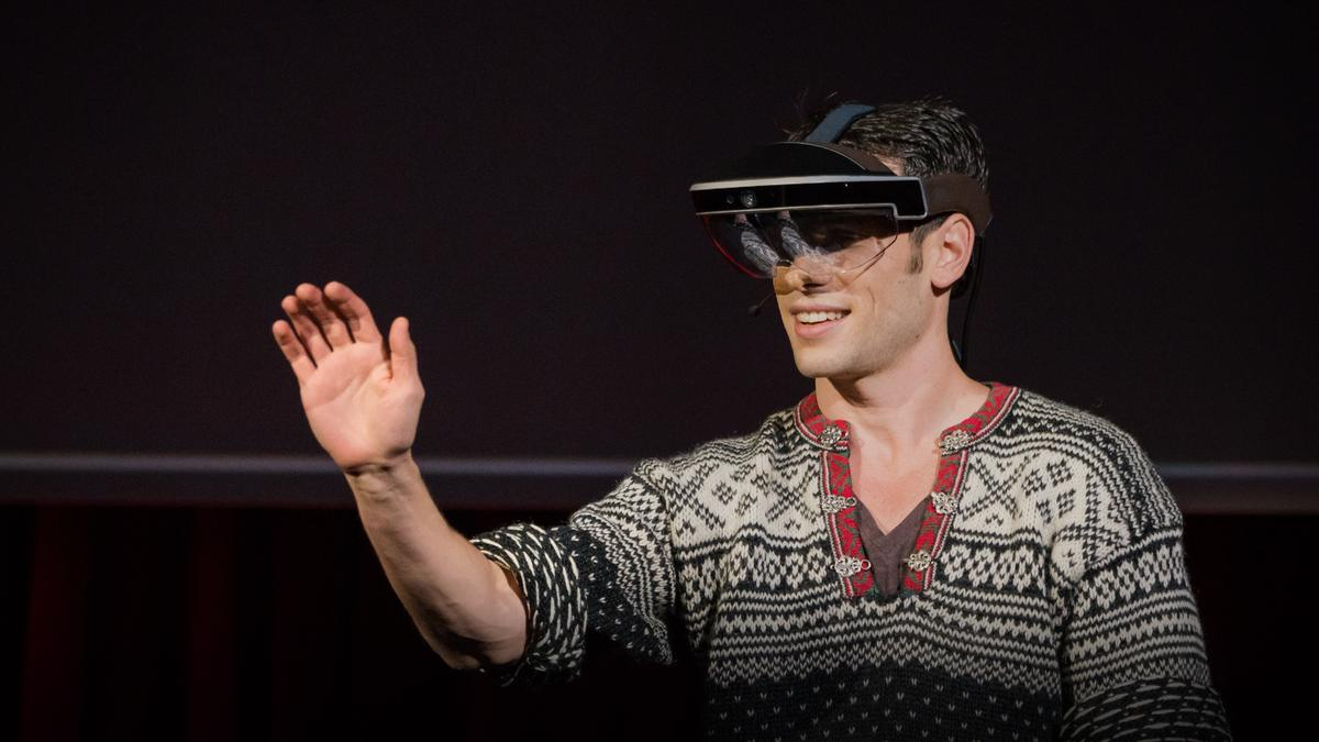 A glimpse of the future through an augmented reality headset