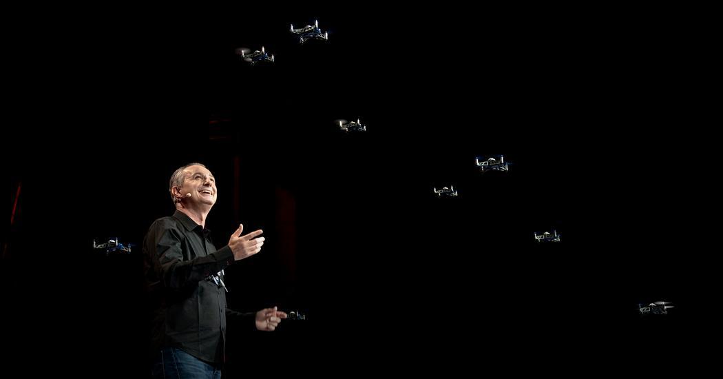A swarm of mini drones makes ... magic!