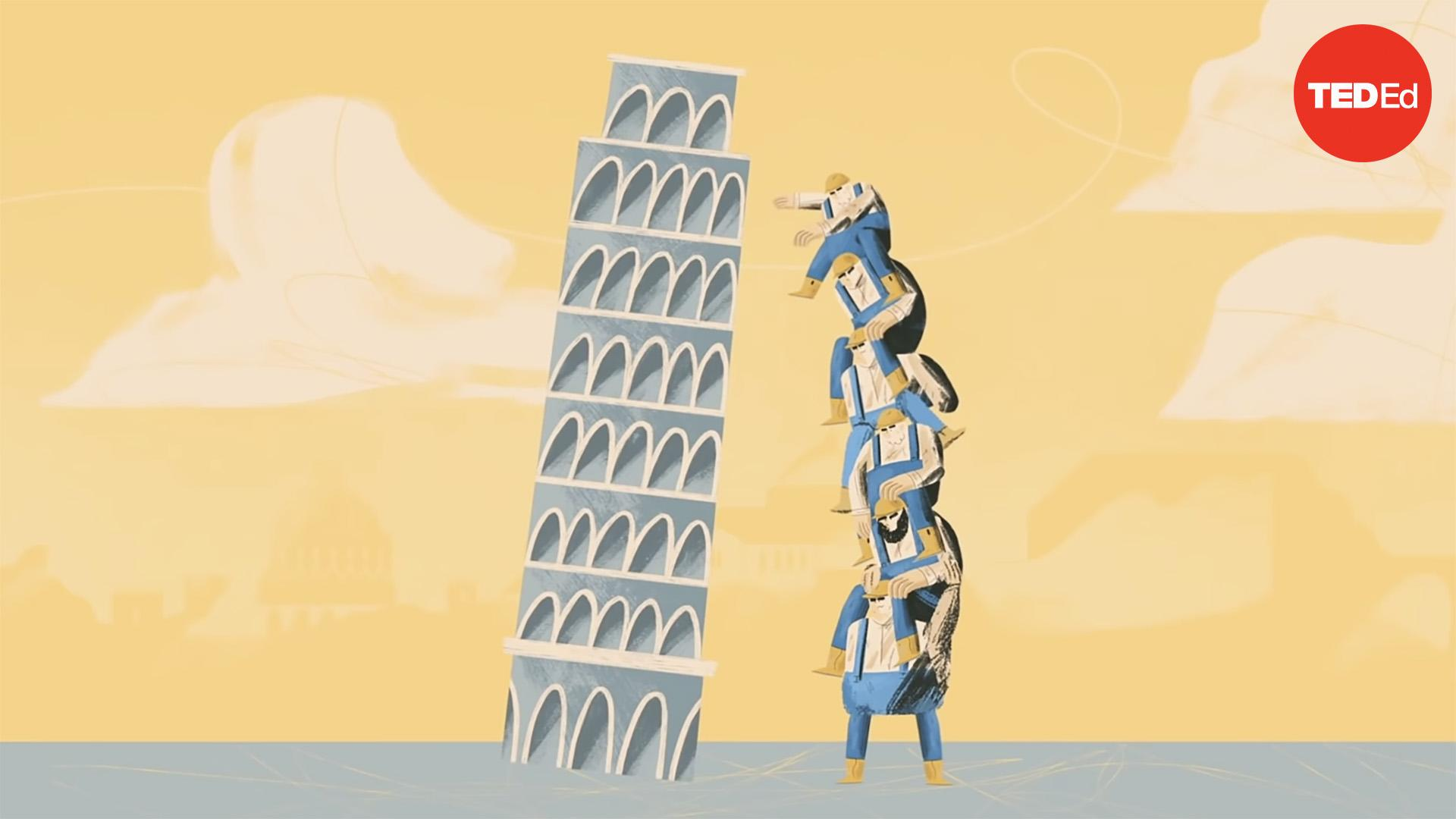 Why doesn't the Leaning Tower of Pisa fall over? | Alex Gendler